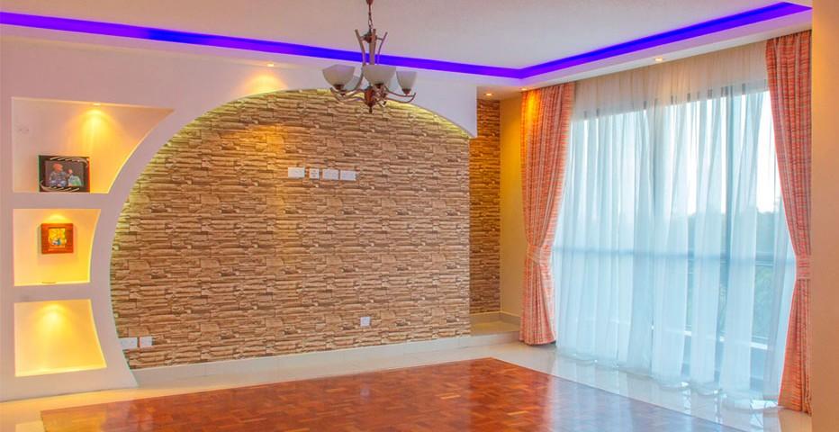 curtains, gypsum ceiling